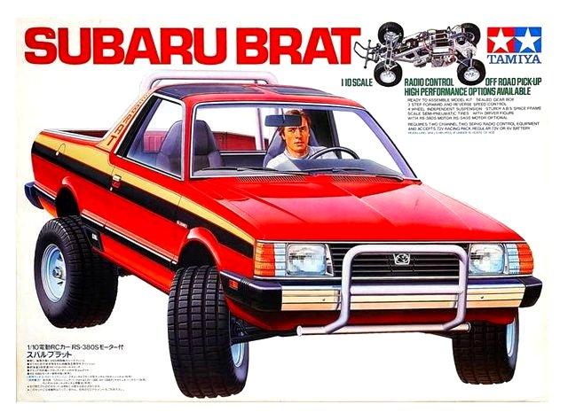 Subaru Brat Engine. Tamiya Subaru Brat - #58038